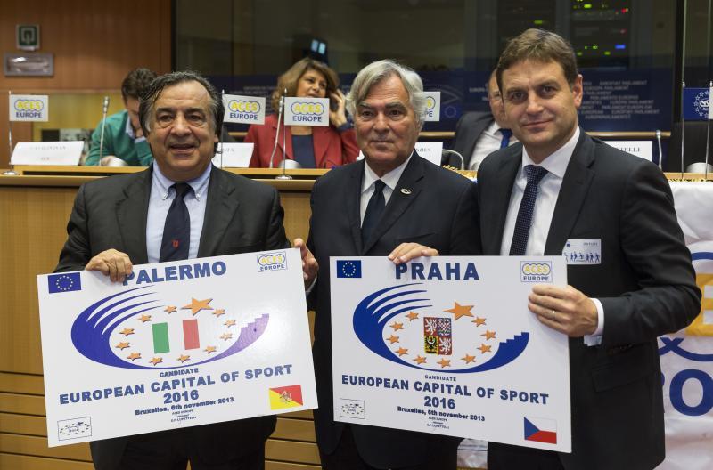 Praha se v Bruselu uchází o titul Evropské hlavní město sportu 2016
