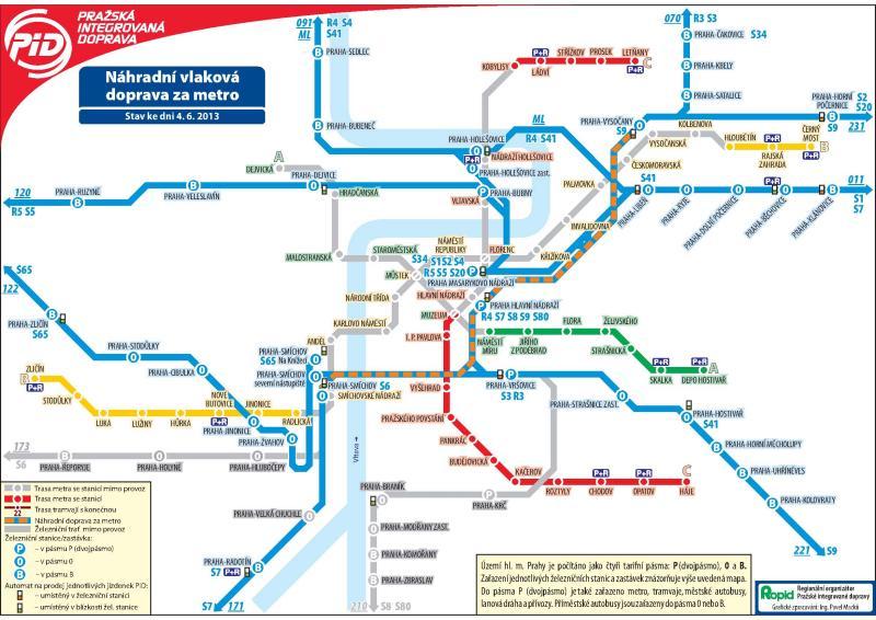 Nahradni Vlakova Doprava Za Metro Schema