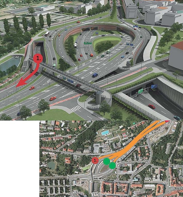Situacni Plan Vjezdu A Vyjezdu Portal Hlavniho Mesta Prahy