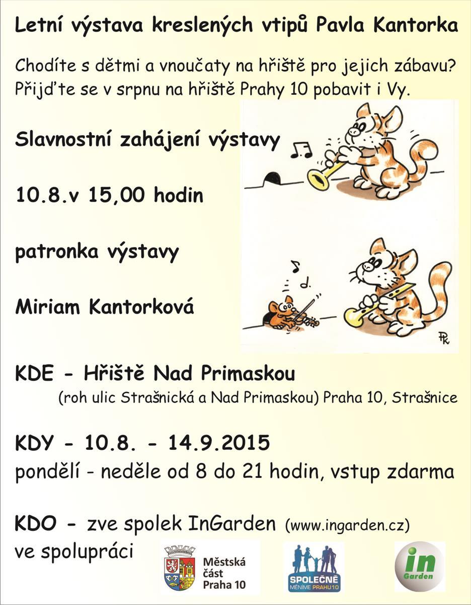 Letni Vystava Kreslenych Vtipu Pavla Kantorka Portal Hlavniho Mesta